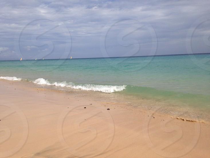 Jandia beach and sea photo