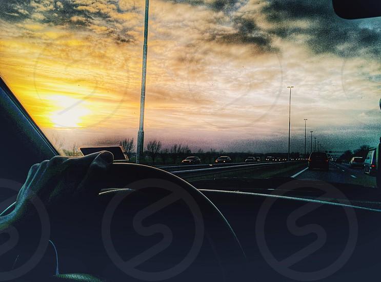 Me driving home photo