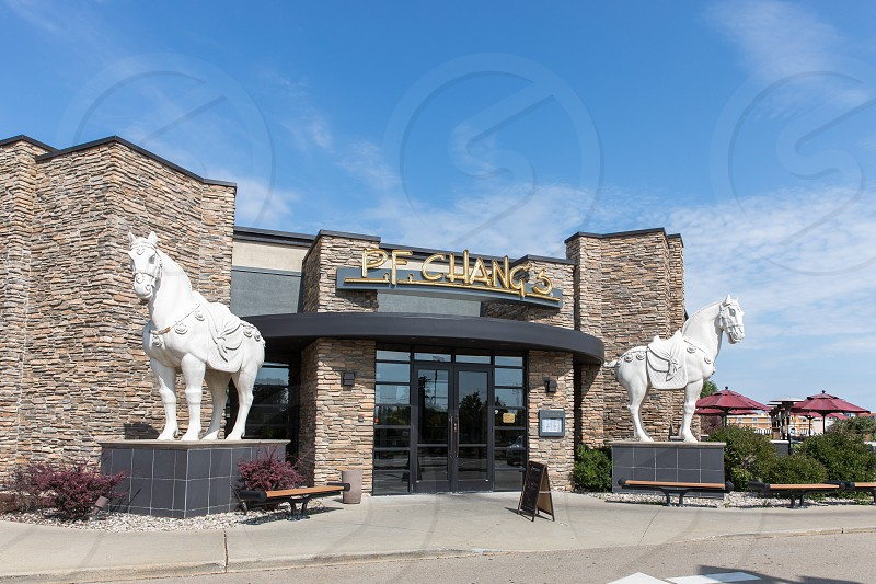The entrance to the P.F. Chang's in Lansing Michigan photo