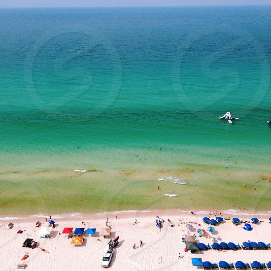 beach front with clear blue water photo