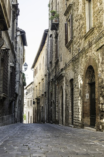 Italian typical houses. Stone buildings photo
