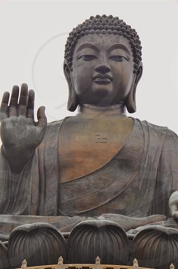"Tian Tan Buddha ""big buddha"" located on Lantau Island in Hong Kong. photo"