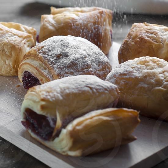 fresh puff pastries photo