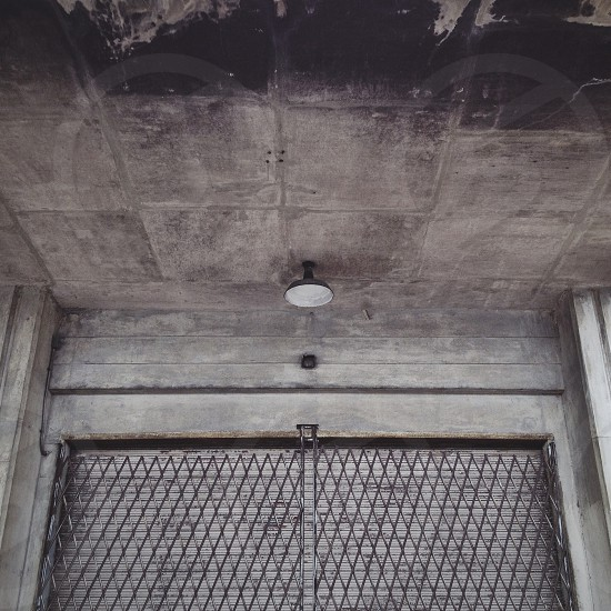 Architecture industrial grey concrete gate light loading dock photo