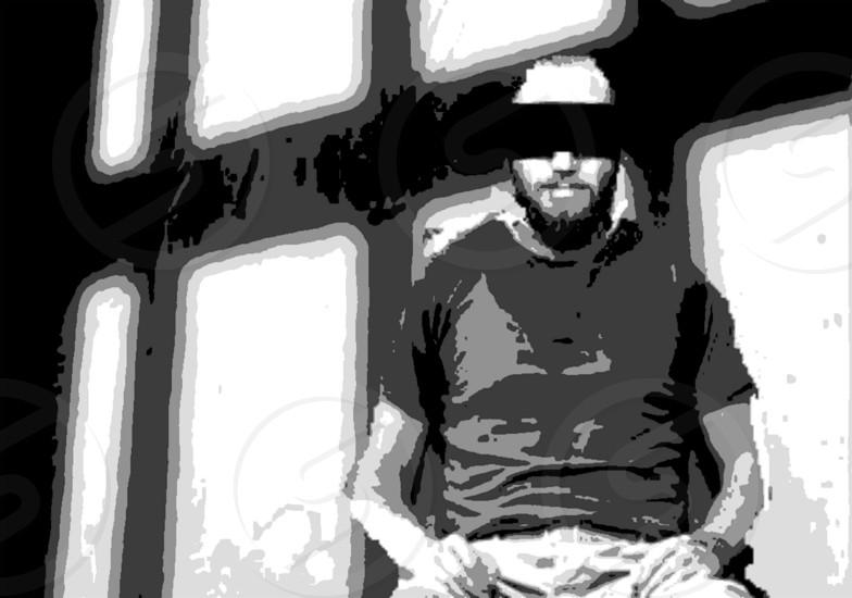 blindfolded man photo