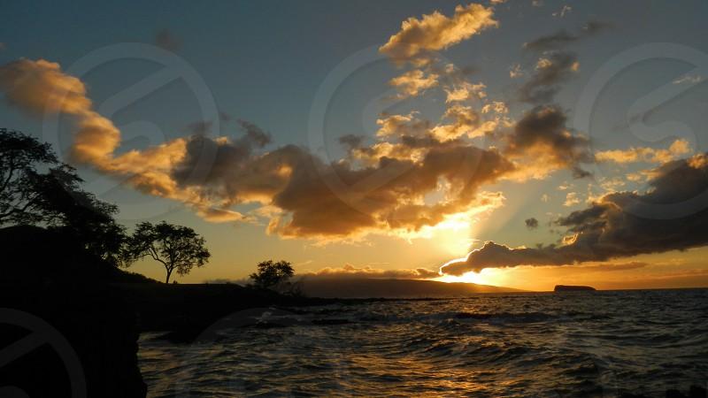Maui sunset with view of Molokini island - Maui Hawaii photo