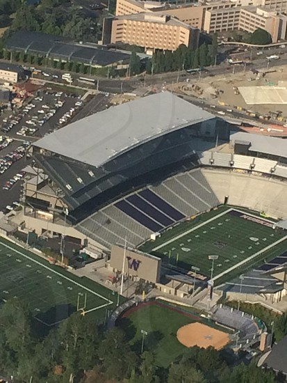UW husky stadium via seaplane photo