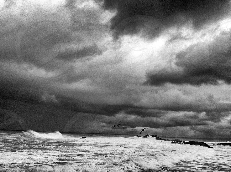 Storm Clouds Pacific Ocean coast photo