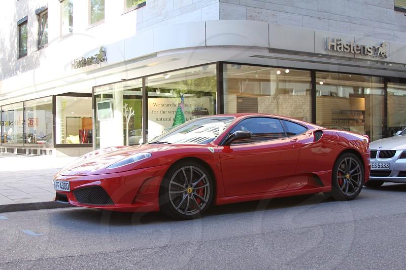 Red Ferrari photo