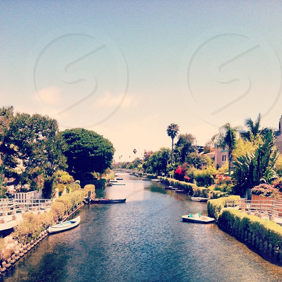 Venice Beach Canals Santa Monica California photo