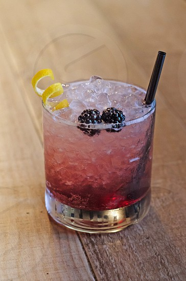 Delicious black berry cocktail photo