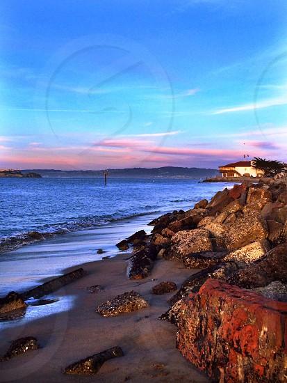 San Francisco Bay at dusk photo