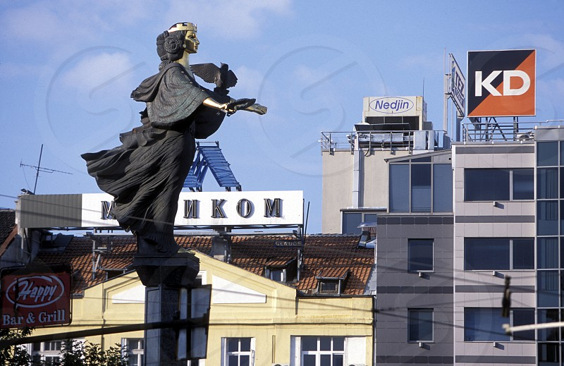 the sofia statue in the old town of the city of Sofia in Bulgaria in east Europe. photo