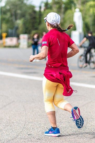 Woman Runner Running Jogging photo