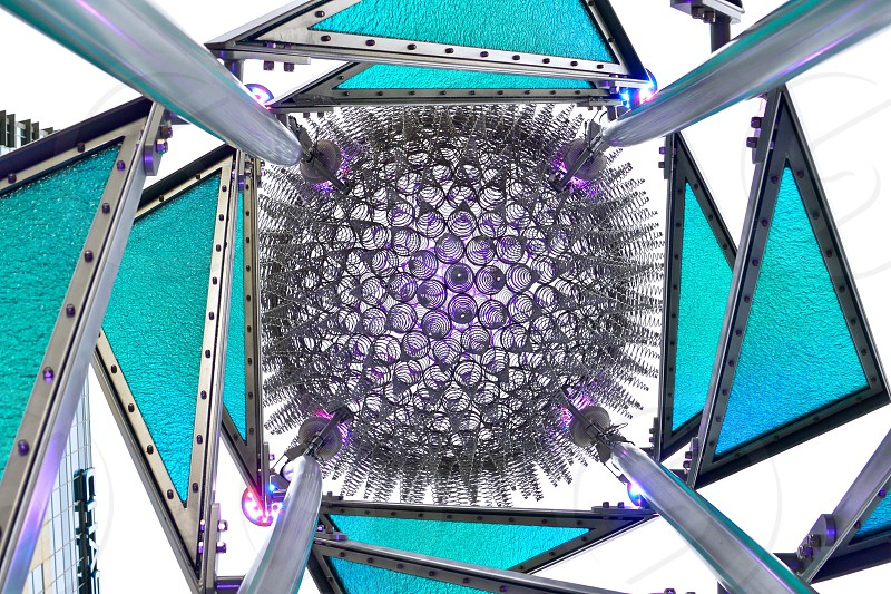 low angle photography of crystal purple orb tower photo