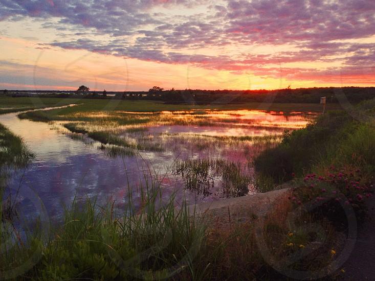 Cape Cod sunset photo