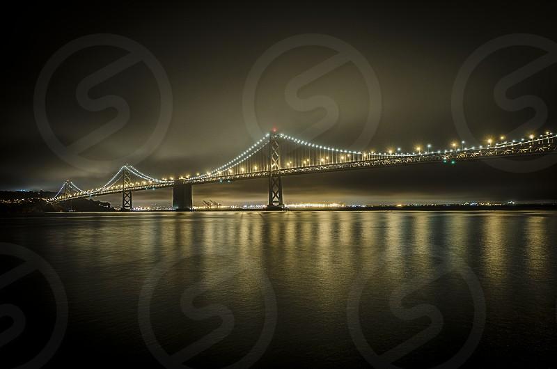 Lighted bridge photo photo
