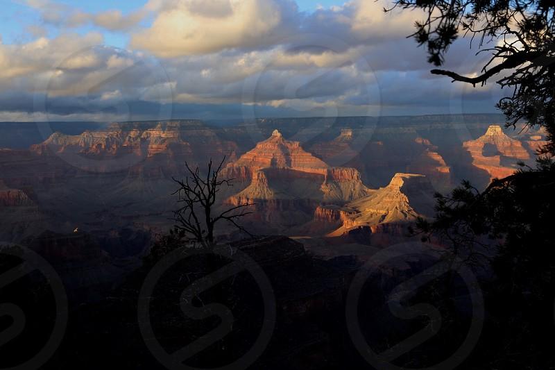 Grand Canyon Mountains Landscape Sun Arizona United States Landmark Tourism Vacation photo