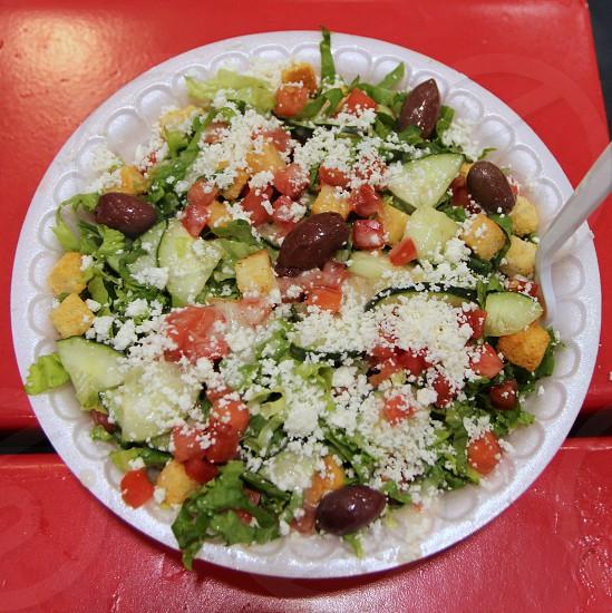 Giant Greek salad  state fair food photo
