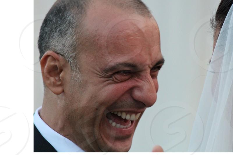 man smiling photo