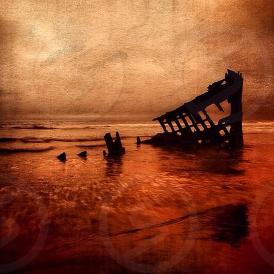 Shipwreck Astoria Wash photo