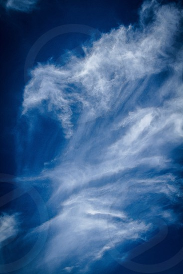 Abstract; blue sky; movement; composition; imagery; fine art; story; epic; creativity photo