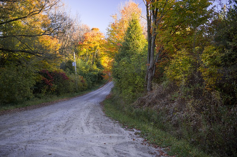 Open Country Gravel Road in Fall/Autumn photo
