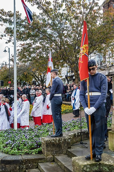Memorial Service on Remembrance Sunday in East Grinstead photo