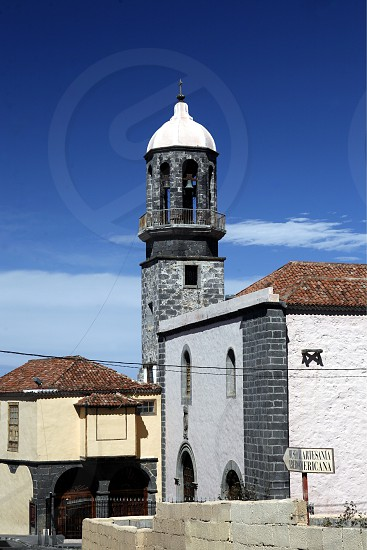 a Church in the Town of La Orotava on the Island of Tenerife on the Islands of Canary Islands of Spain in the Atlantic.   photo