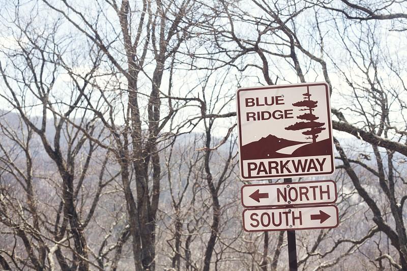 Hiking along the Blue Ridge Parkway in North Carolina photo