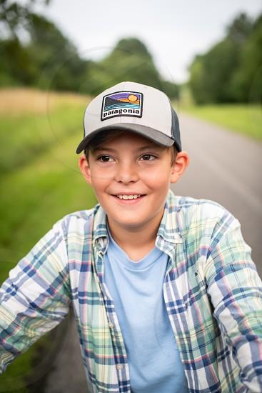 Boy riding bike lifestyle boy photo