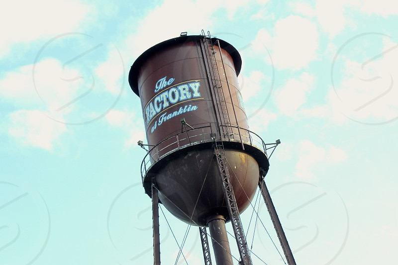 Old water tower in Franklin Tennessee photo