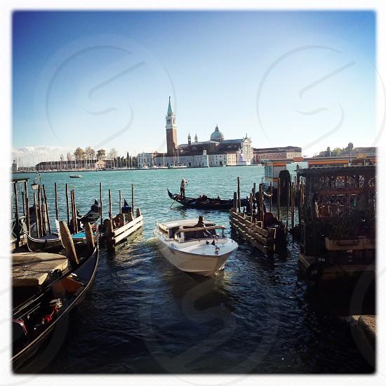 venice boat and gondola photo