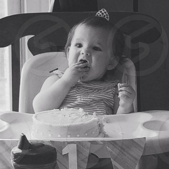 Baby birthday party photo