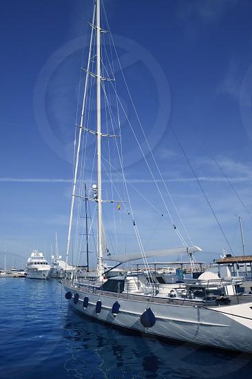 Mallorca Puerto Portals port harbor marina yacht in Spain photo