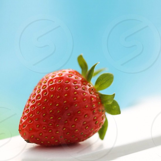 red strawberry photo