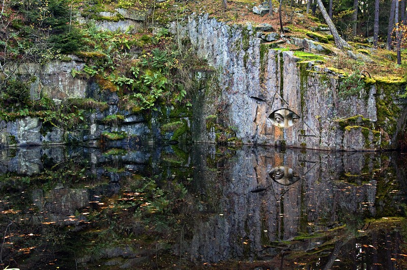 reflection in lake photo