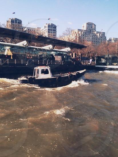 Boat . River . Thames . London . Uk photo