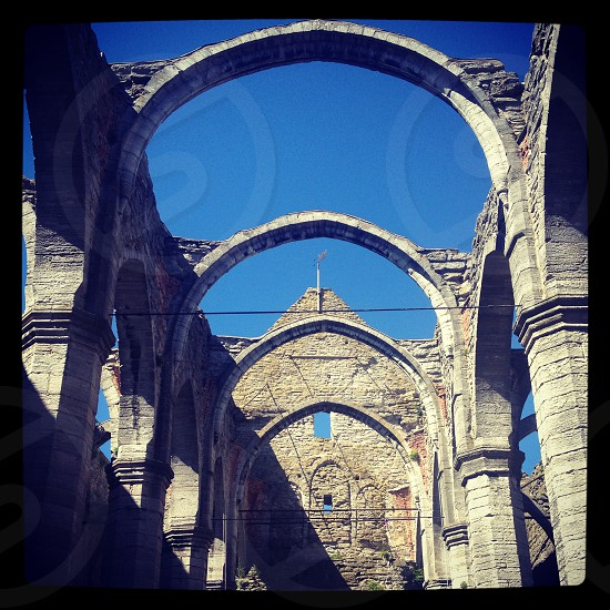 Historical Church Ruins of Visby Gotland Sweden  photo