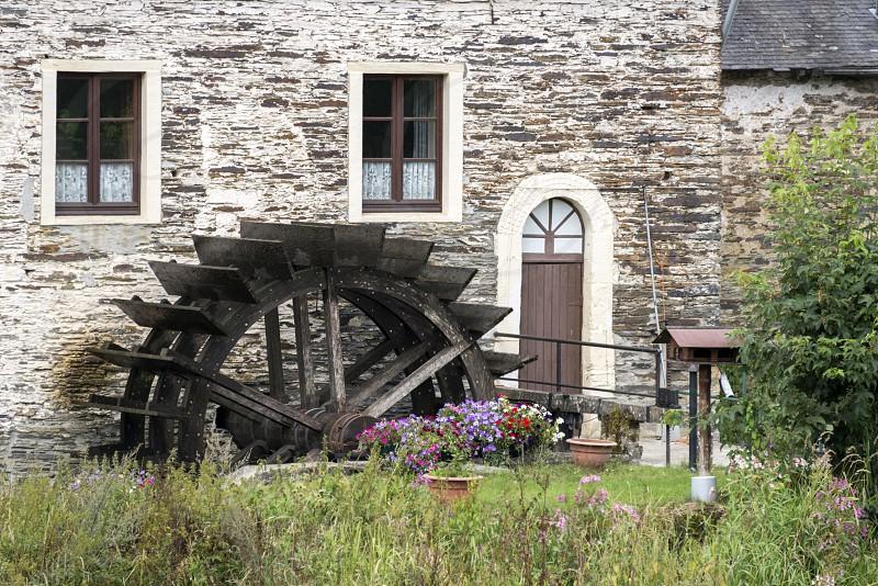 water mill in the belgium city mortehan near bertrix photo
