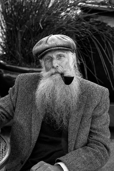 man with tobacco pipe photo
