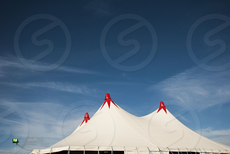 a roof of a music tent at we are festival at upminster in london photo