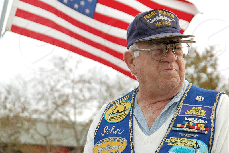 U.S. submarine veteran John Morris reminisces about Pearl Harbor during a newspaper interview in 2007 after the 65th anniversary ceremony of Pearl Harbor day on the USS Kidd in Baton Rouge Louisiana. Morris was a petty officer during the attacks at Pearl Harbor. photo