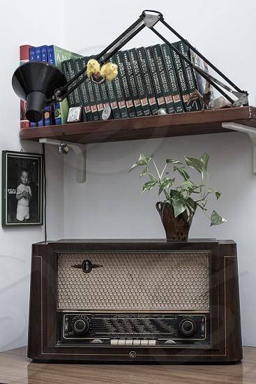 black vintage radio photo