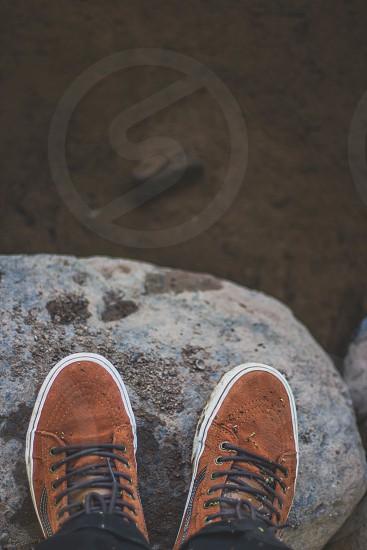 tan suede hightops photo