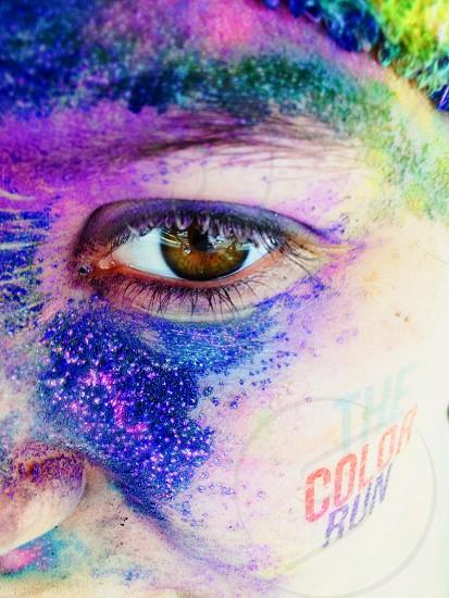 the color run face logo photo