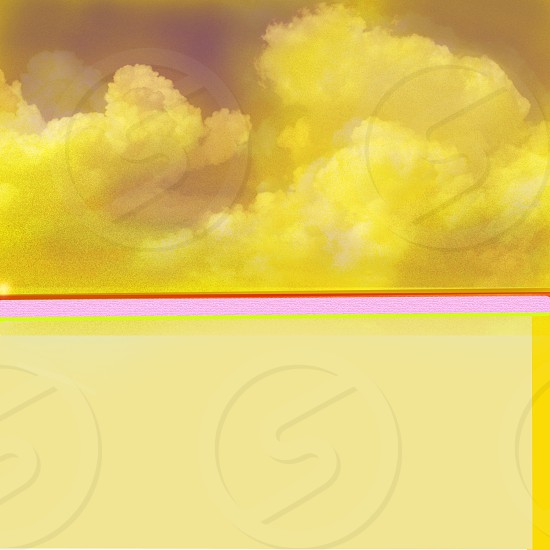 yellow clouds image photo