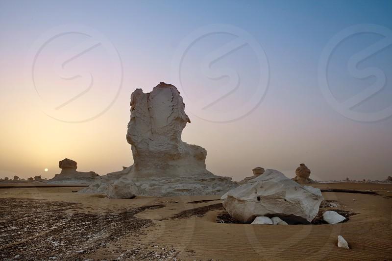 Egypts White desert photo