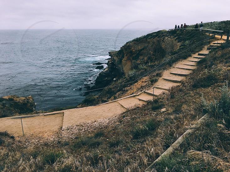 Point Lobos California ocean water stairsstaircase  photo