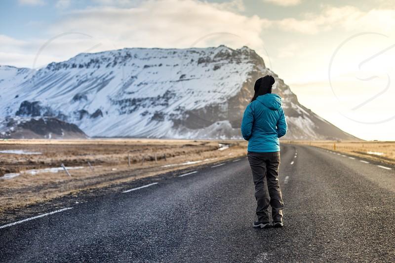 Sun; Ray;light;Iceland;love;adventure;wanderlust;peace;solitude;travel;winter;cold;highway photo